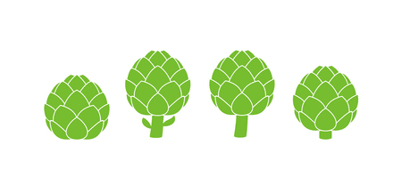 Artichoke logo. Isolated artichoke on white background