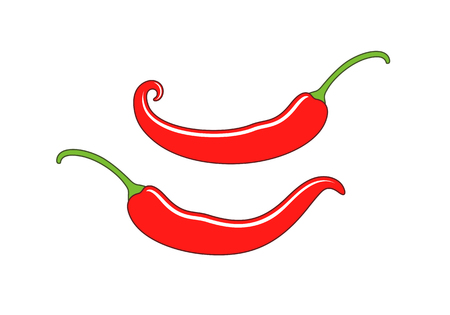 Chili pepper logo. Isolated chili pepper on white background Çizim
