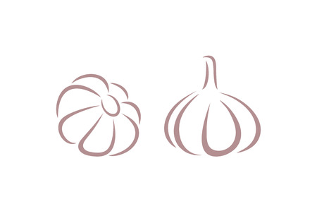 Garlic logo. Isolated garlic on white background
