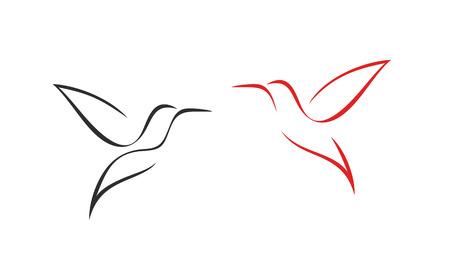 Kolibrie-logo. Geïsoleerde kolibrie op witte achtergrond. Overzicht