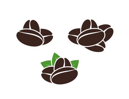 Coffee logo. Set