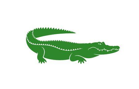 Krokodil-Logo. Abstraktes Krokodil auf weißem Hintergrund