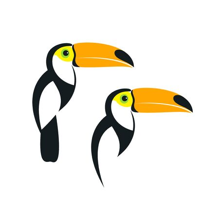 Toucan icon. Isolated toucan on white background