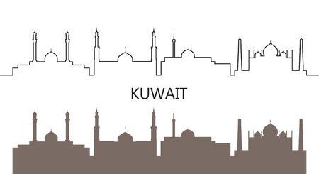 Isolated Kuwait architecture on white background