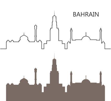 Bahrain logo. Isolated Bahrain architecture on white background