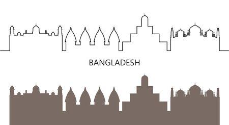 Bangladesh logo. Isolated Bangladesh architecture on white background