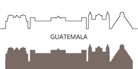Guatemala logo. Isolated Guatemalan architecture on white background