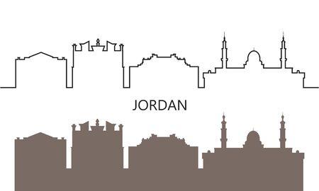 Jordan logo. Isolated Jordan architecture on white background