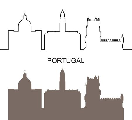 Portugal logo. Isolated Portuguese architecture on white background