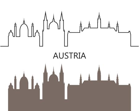 Austria logo. Isolated Austrian architecture on white background