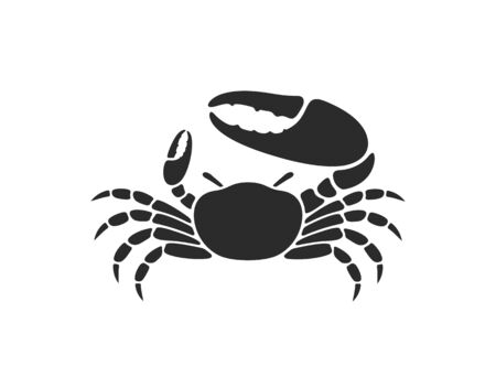 Fiddler crab. Logo Isolated crab on white background
