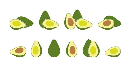 Avocado logo. Isolated avocado on white background