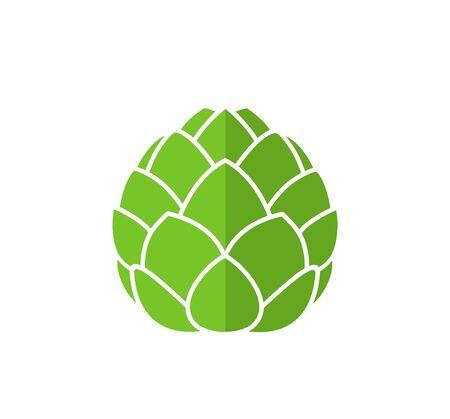 Artichoke logo. Isolated artichoke on white background