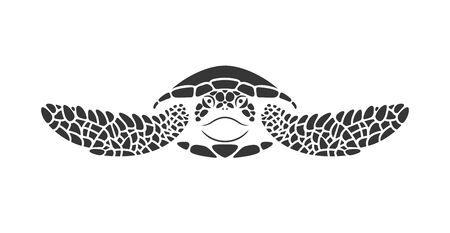 Sea turtle logo. Isolated turtle on white background. Reptile
