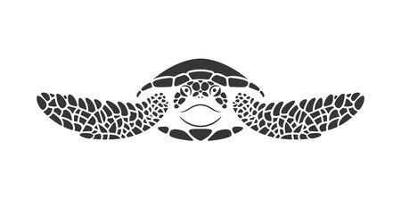 Sea turtle logo. Isolated turtle on white background. Reptile Logo