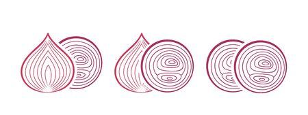 Onion logo. Isolated onion on white background