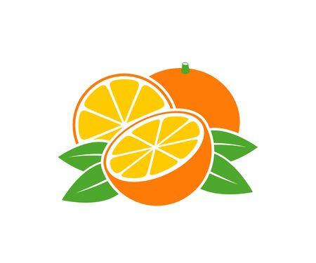 Orange logo. Isolated orange on white background
