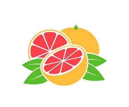 Grapefruit logo. Isolated grapefruit on white background