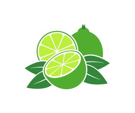 Lime logo. Isolated lime on white background Ilustrace