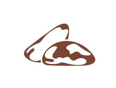 Brazilian nut logo. Isolated nut on white background Ilustrace