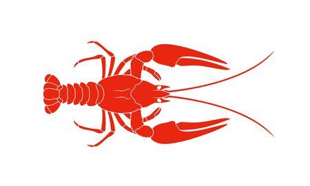 Crayfish logo. Isolated crayfish on white background Ilustrace