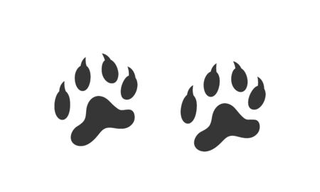 Tiger footprint logo. Isolated tiger footprint on white background Ilustrace