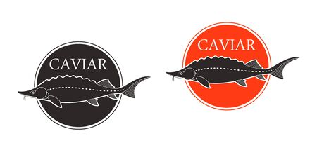 Caviar logo. Isolated caviar on white background