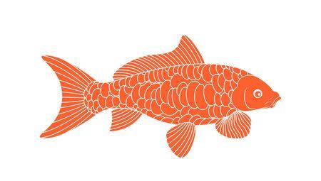 Koi Fish. Carp Koi logo Ilustrace