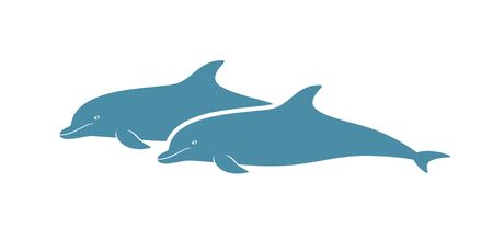 Dolphin logo. Isolated dolphin on white background.