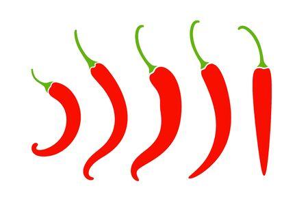 Chili pepper logo. Isolated chili pepper on white background Çizim