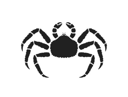 King crab logo. Isolated crab on white background