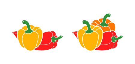 Bell Pepper logo. Isolated Bell Pepper on white background. Paprika