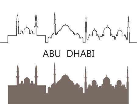Abu Dhabi logo. Isolated Abu Dhabi architecture on white background