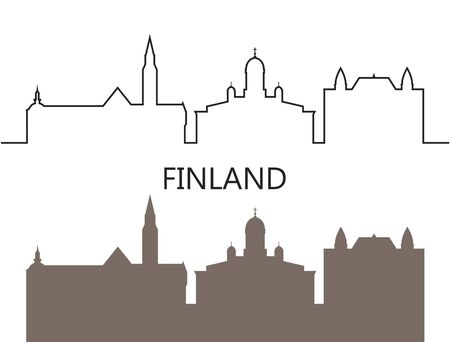 Finland logo. Isolated Finnish architecture on white background