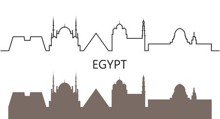 Egypt logo. Isolated Egyptian architecture on white background