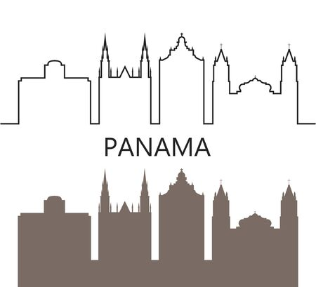 Panama logo. Isolated Panamanian architecture on white background