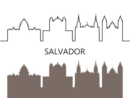 Salvador logo. Isolated Salvador architecture on white background  イラスト・ベクター素材