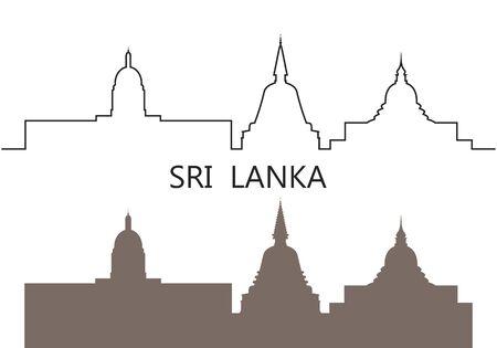 Sri Lanka logo. Isolated Sri Lanka architecture on white background
