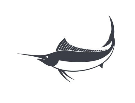 Marlin logo. Isolated marlin on white background
