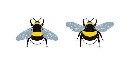 Bumblebee logo. Isolated bumblebee on white background. Wasp