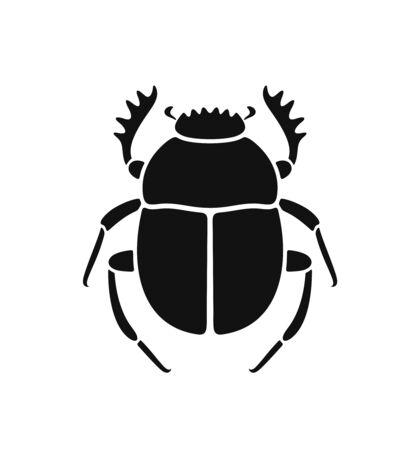 Scarab beetle logo. Isolated scarab beetle on white background
