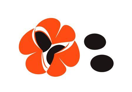 Guarana logo. Isolated guarana on white background