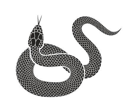 Snake logo. Isolated snake on white background