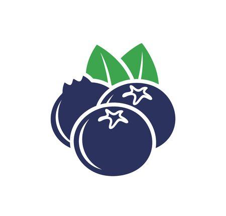 Blueberry. Isolated blueberry on white background Ilustracja