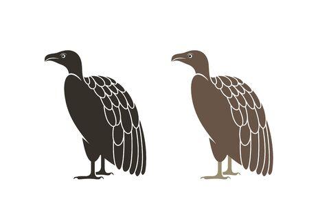 Vulture logo. Isolated vulture on white background Illustration