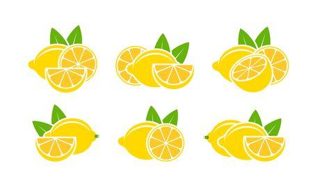 Lemon. Isolated lemon on white background Ilustracja