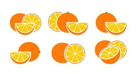 Orange. Isolated orange on white background Ilustracja