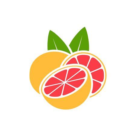 Grapefruit. Isolated grapefruit on white background