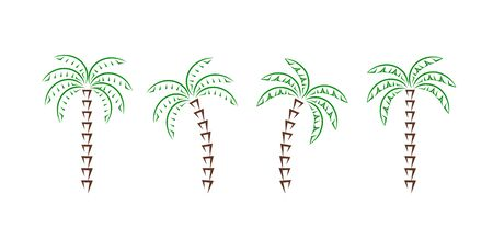 Palm tree. Isolated palm tree on white background Ilustracja