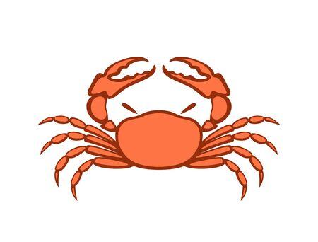 Crab . Isolated crab on white background Ilustracje wektorowe